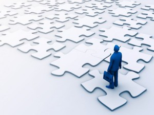 financial services puzzle pieces
